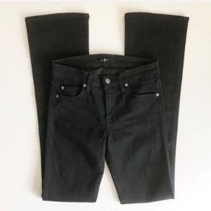 7FAM Solid Black Bootcut Jeans Sz 26